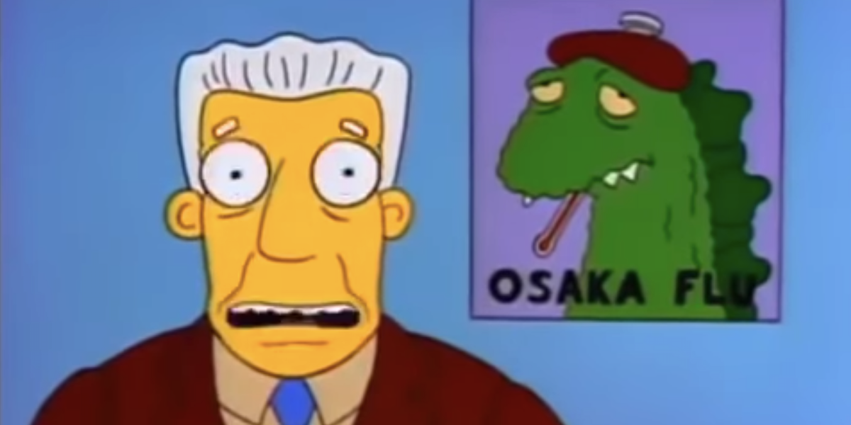 the simpsons marge in chains osaka flu report fox