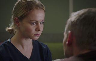 Amy Lennox plays Chloe Goard in Holby City