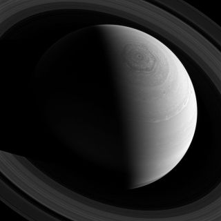 Saturn Hexagonal Jet Stream Cassini Spacecraft View