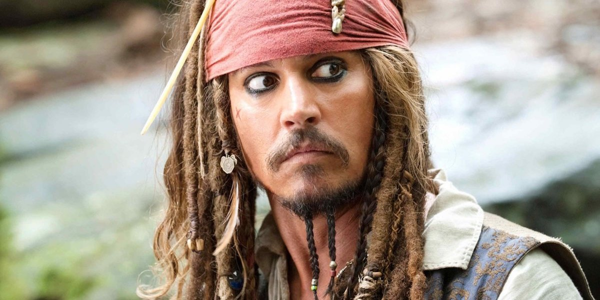 Johnny Depp in 'Pirates of the Caribbean'