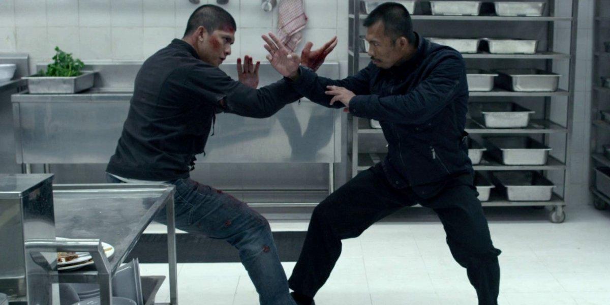 Iko Uwais and Cecep Arif Rahman in The Raid 2