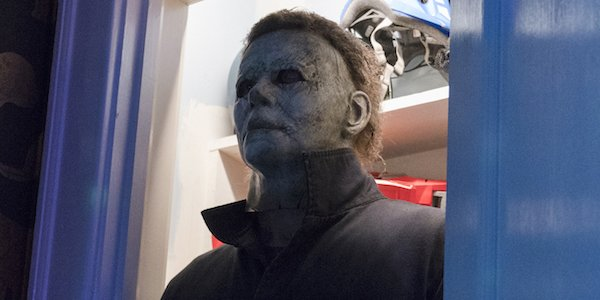 Michael Myers in a closet Halloween 2018