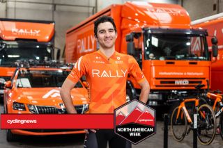 Emerson Oronte models new team kits for 2021 Rally Cycling team