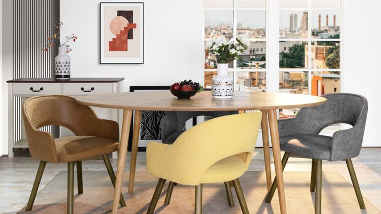Dining table delivered in time for Christmas: Sanders table from Wayfair