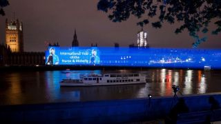 Creative firm Motion Mapping recently deployed two GreenHippo Hippotizer Amba+ Media Servers and four 30,000-lumen Panasonic projectors to run a mapping show on the face of the UK Houses of Parliament in London.