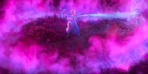 Elsa protects Olaf in Frozen 2 trailer