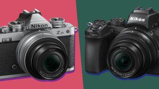 Image showing front of Nikon Zfc vs Nikon Z50