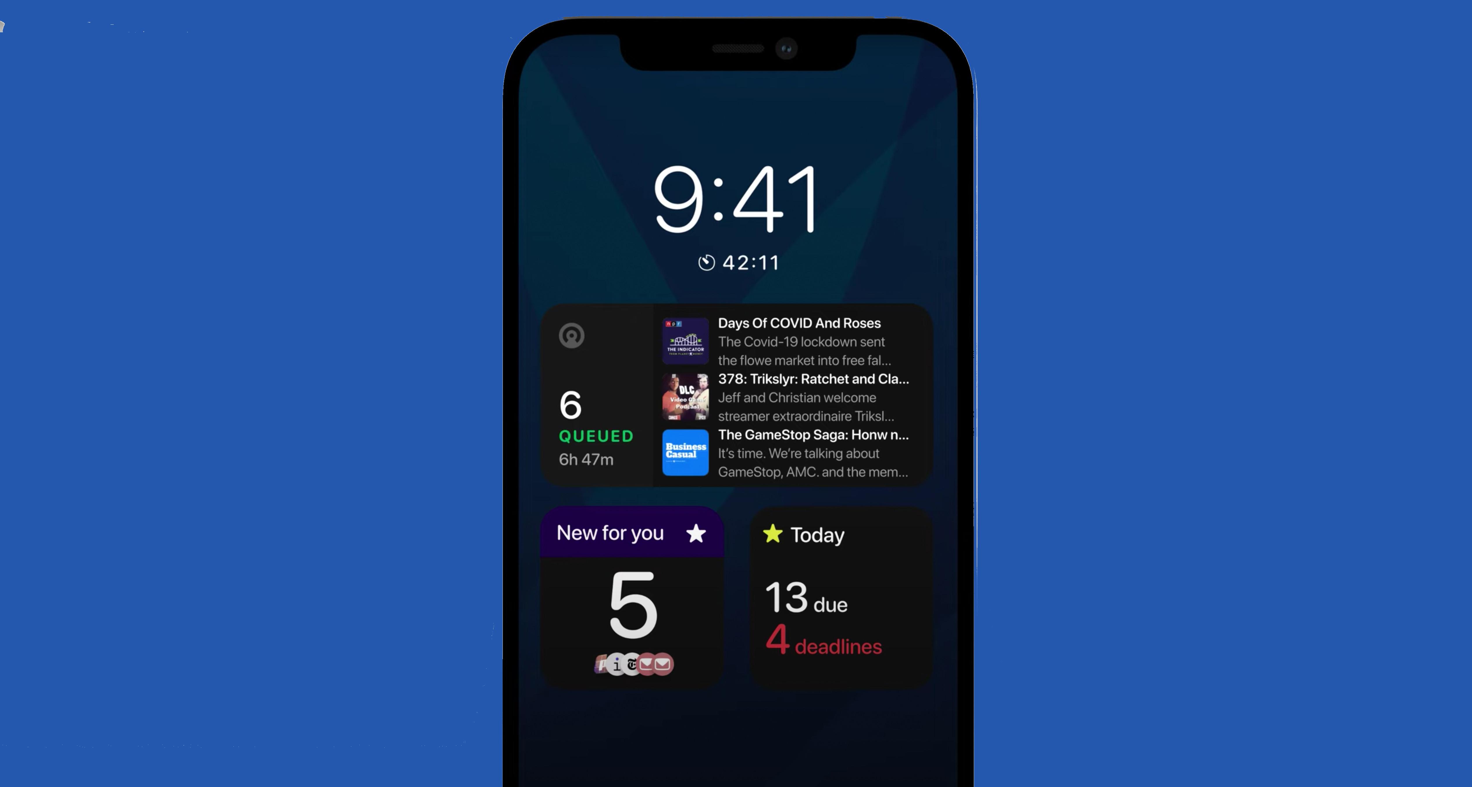 iPhone 13 always-on display concept
