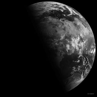 The Earth as seen from space during a solstice on June 21, 2011.