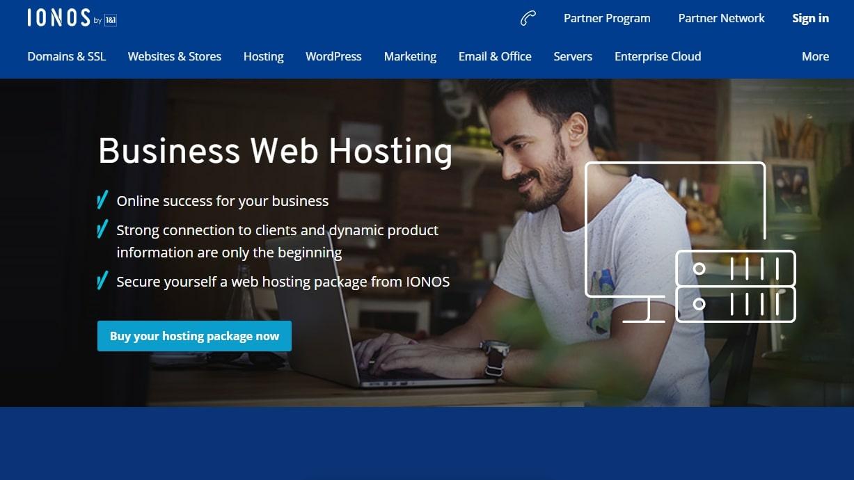 IONOS' homepage