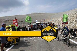 The Tour de France on the Mont Ventoux