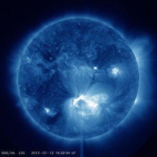Sunspot 1520 Releases X1.4 Class Flare — Full Disk