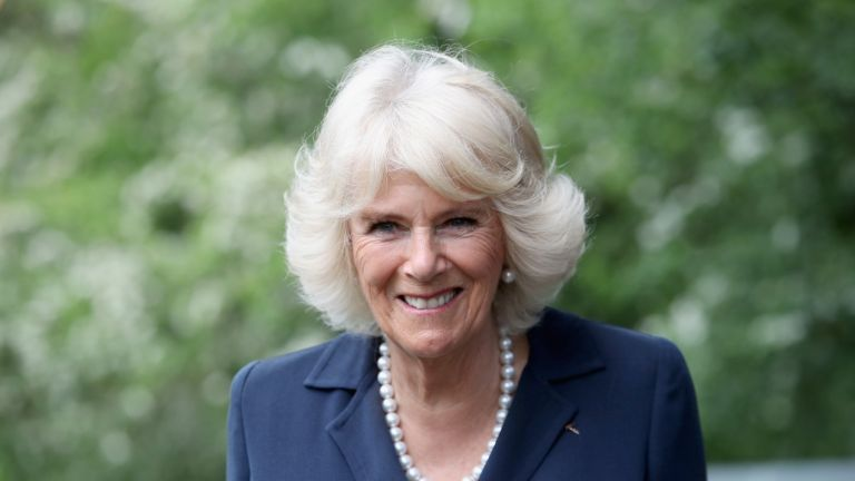 OXFORD, ENGLAND - MAY 16: Camilla, Duchess of Cornwall visits Maggie's Oxford to see how the Centre supports people with cancer on May 16, 2017 in Oxford, England. During her visit HRH will meet people living with cancer and observe Maggie's programme of support in action including a Talking Heads session and a yoga class. (Photo by Chris Jackson/Getty Images)