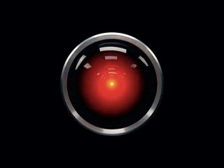 "A murderous computer named HAL in the film ""2001: A Space Odyssey"" (1968)."