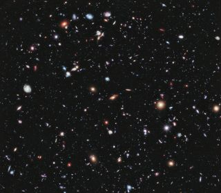 Hubble image of the universe.