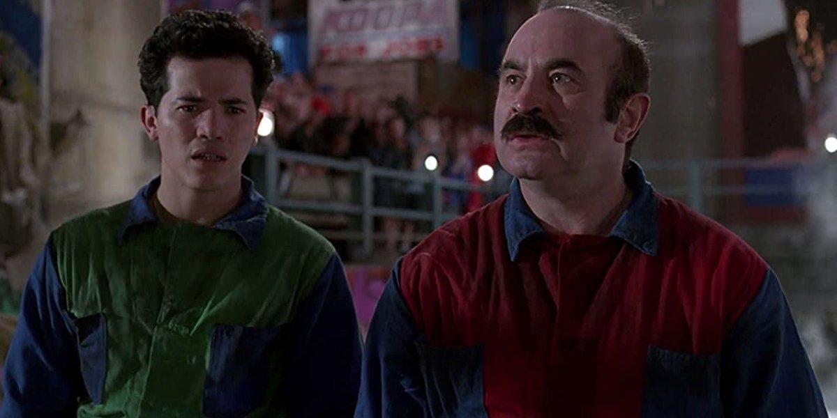John Leguizamo and Bob Hoskins in Super Mario Bros.