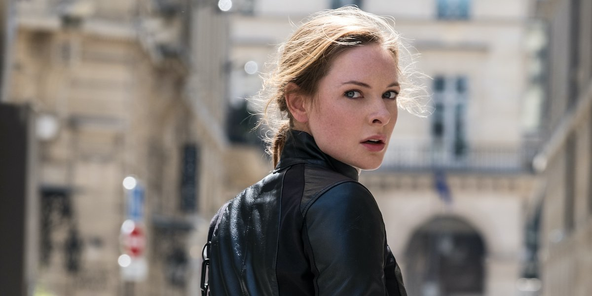 Rebecca Ferguson as Lisa Faust in Mission Impossible: Fallout