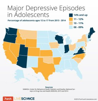 infographic, depression, teens