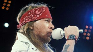 Axl Rose onstage in 1992