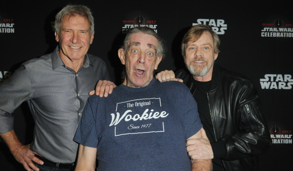 Harrison Ford Peter Mayhew and Mark Hamill
