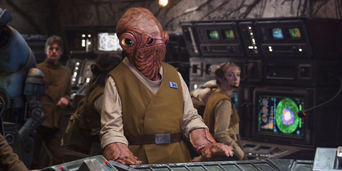 Admiral Ackbar in Star Wars: The Force Awakens