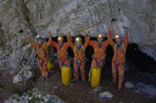 An international team of five astronauts re-emerged on Sept. 21, 2011, after living in a cave for six days as part of an elaborate training exercise that simulates aspects of a real space mission.