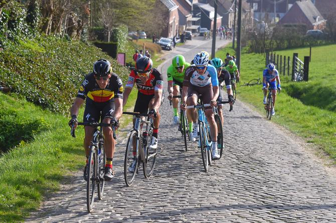 Philippe Gilbert (Quick-Step Floors) attacks the Oude Kwaremont