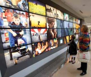 Artful Video Wall Transforms University of Kentucky Health Care Center