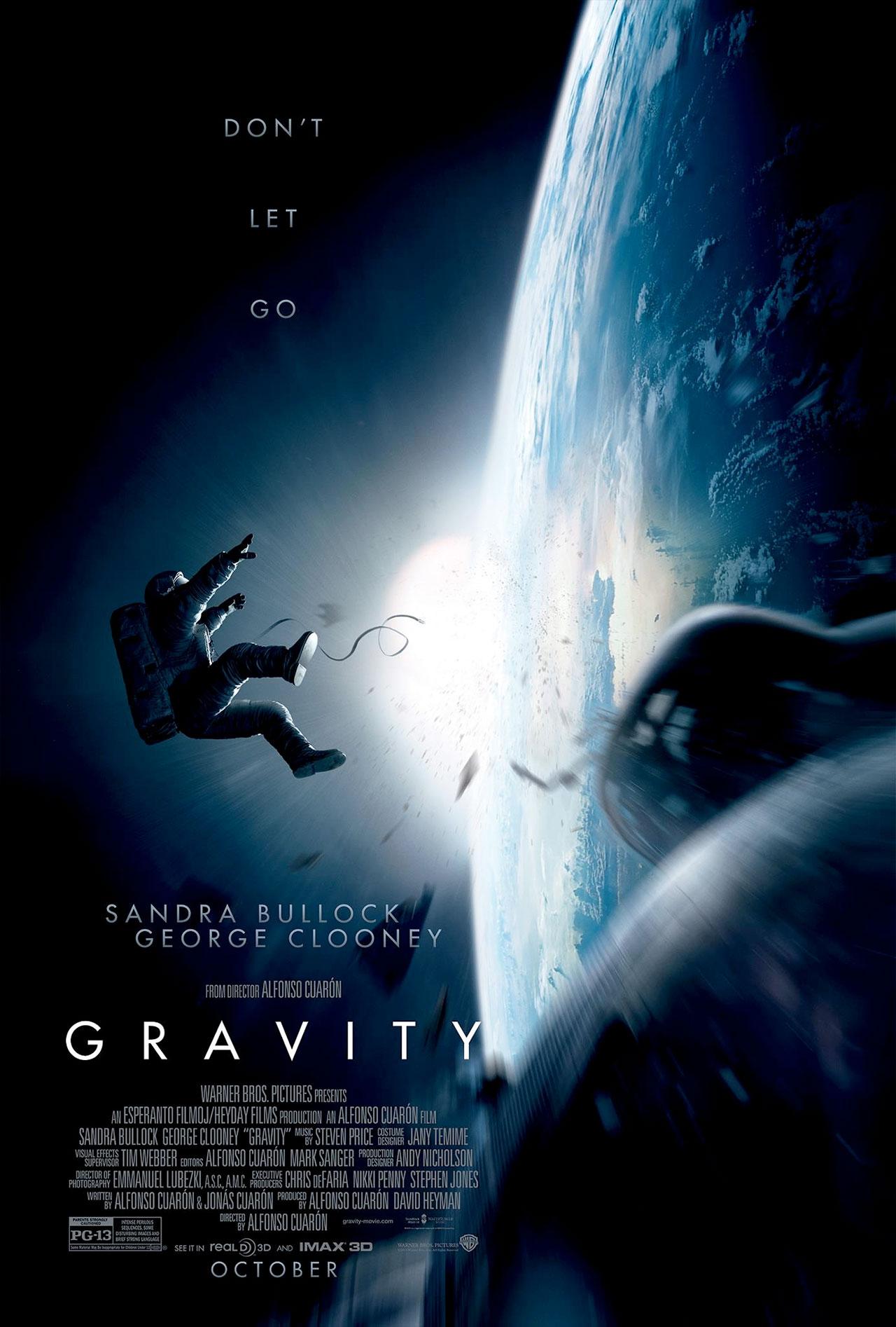 Gravity Film Trailer Reveals George Clooney Sandra Bullock As Astronauts Space