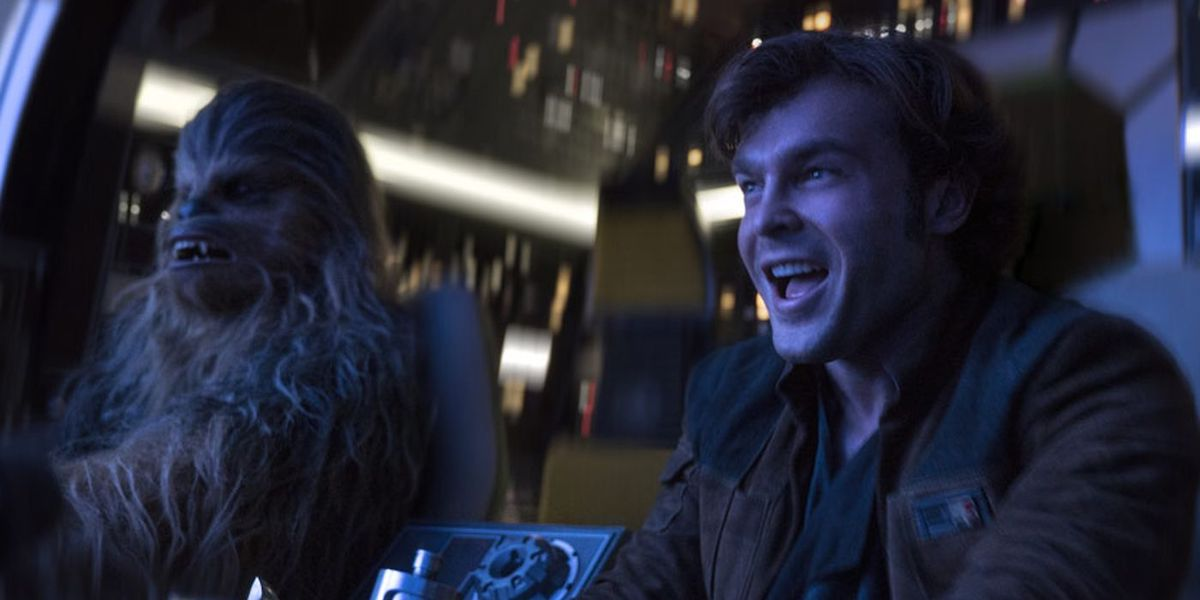 Chewbacca and young Han Solo in Solo: A Star Wars Story