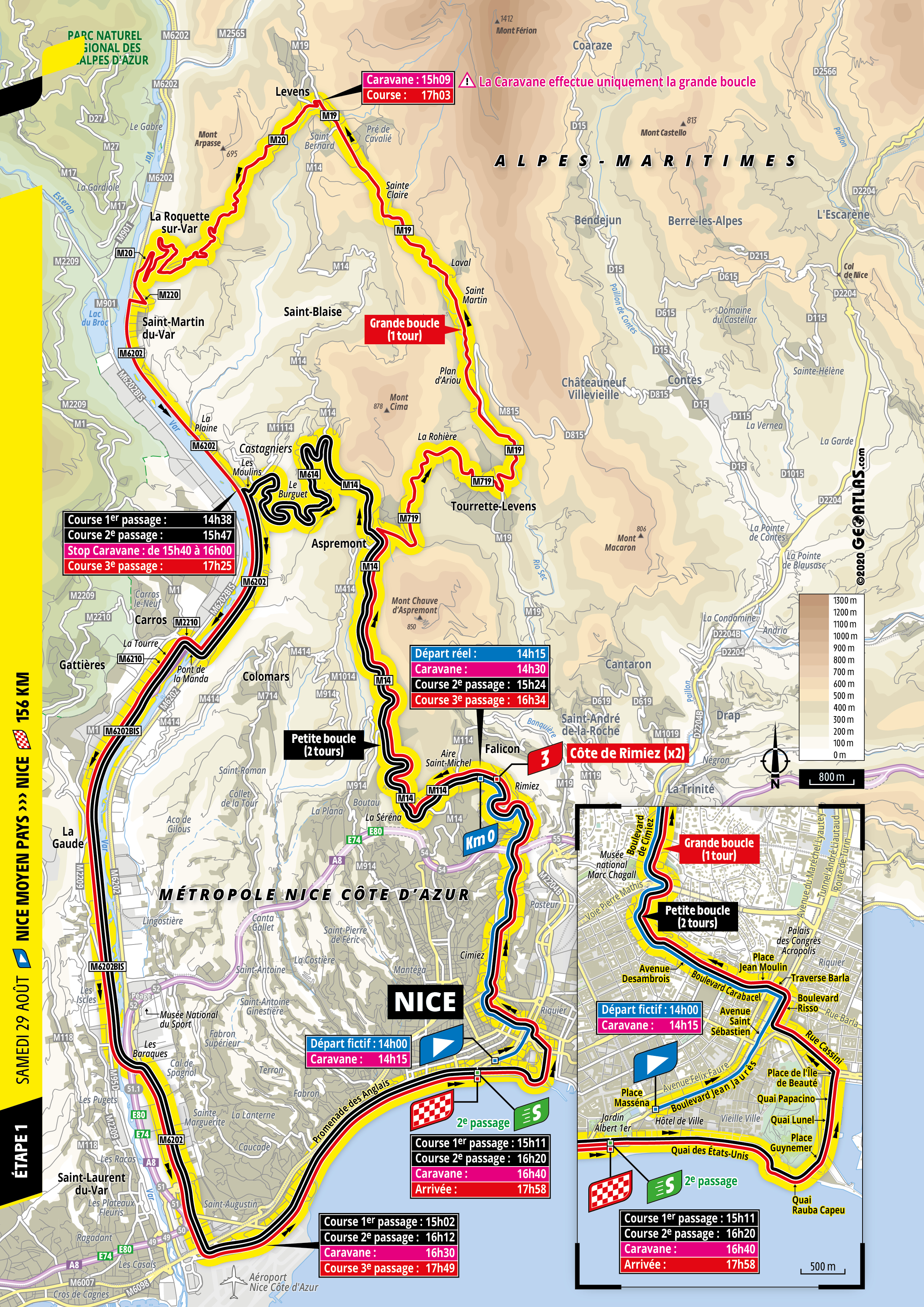 Tour de France Stage 1 map