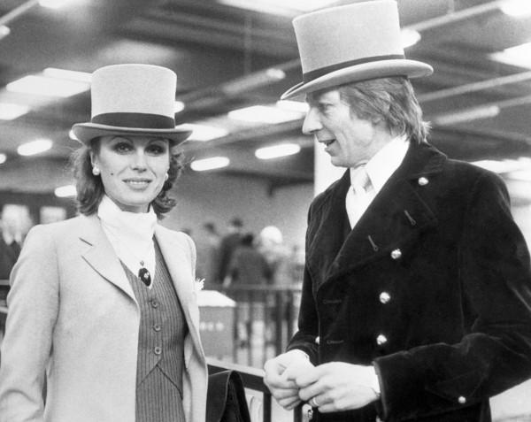 Jeremy Lloyd with ex-wife Joanna Lumley (PA)