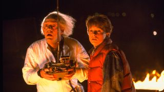 Doc Brown and Marty McFly in Back to the Future.