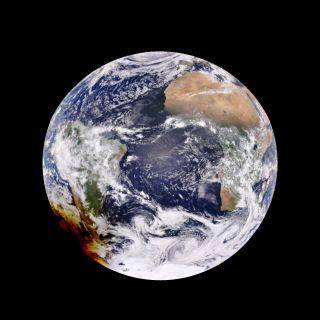 Earth 2017 annular solar eclipse over South America