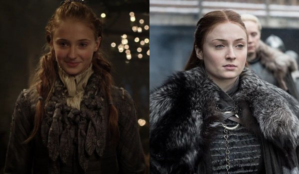 Game of Thrones Sansa Stark Then and Now