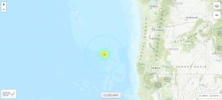 The 6.3-magnitude earthquake occurred about 176 miles (284 kilometers) west-northwest of Bandon, Oregon.