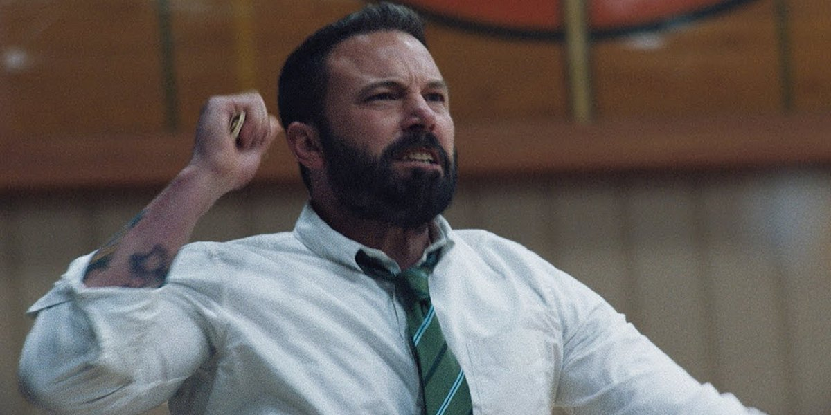 The Way Back Ben Affleck pumping his fist on the sidelines