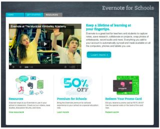 Evernote For Schools Site: Resource for Using Evernote in Education