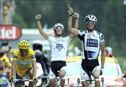 Frank Schleck wins Tour de France 2009, stage 17