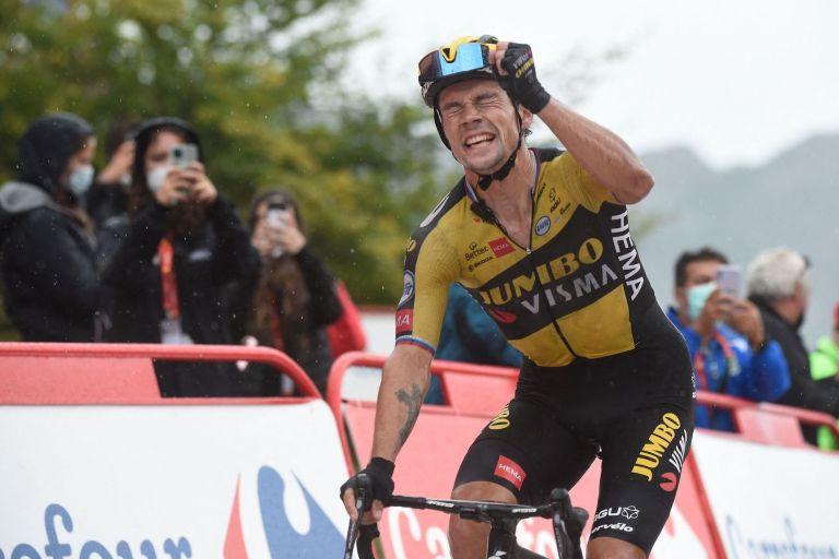 Primoz Roglic on stage 17 of the Vuelta a Espana