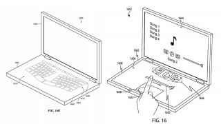 Two designs of a dual screen MacBook