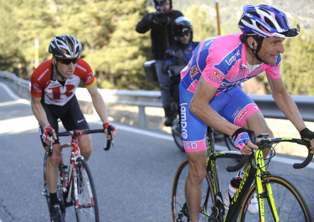 Michele Scarponi and Levi Leipheimer, Volta a Catalunya 2011, stage three