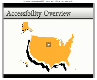 Video Tutorial: Accessibility legal and ethical requirements