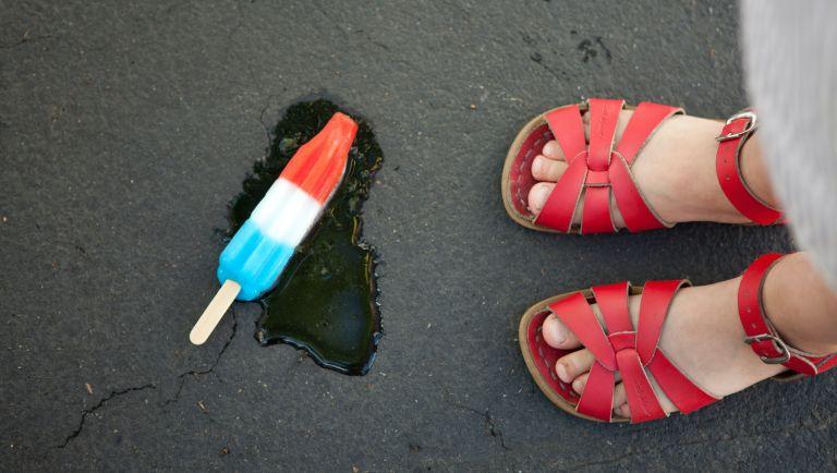 summer, ice cream, melted ice cream