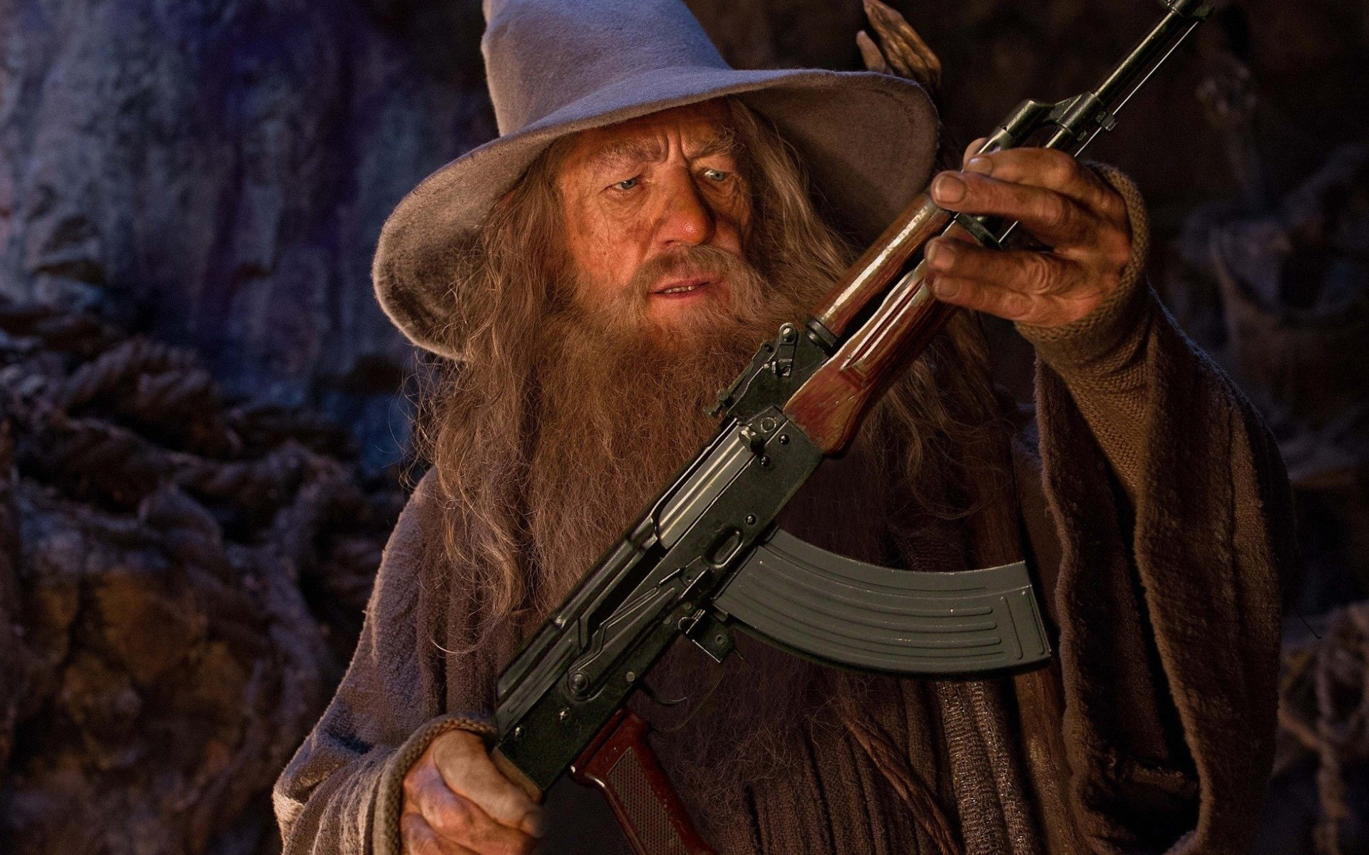 How a meme of Gandalf holding an AK-47 inspired survival sandbox Wizard  with a Gun | PC Gamer
