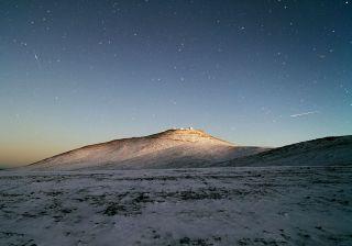 Snow at La Silla Paranal Observatory