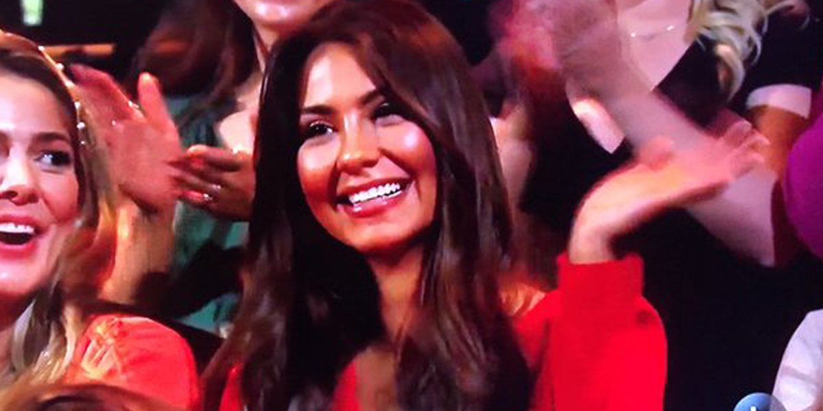 The Bachelor 2020 live finale Kelley Flanagan waves audience ABC