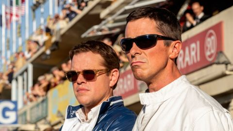 Matt Damon and Christian Bale in Le Mans '66 (Ford v Ferrari)