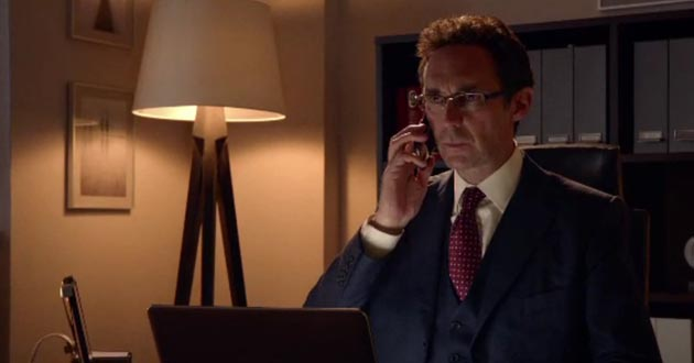 Guy Henry plays Henrik Hanssen in Holby City