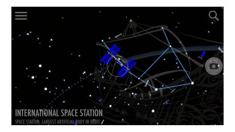SkyView review: Image shows the ISS.